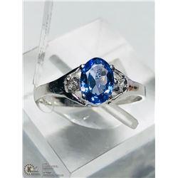 14) 10KT GOLD TANZANITE & DIAMOND RING