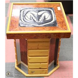 """CUSTOM MADE MANCAVE TABLE / STAND 23"""" X 21"""" X 21"""""""