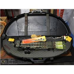 RSE IMPACT MOSSY OAK BOW WITH ARROWS AND HARD CASE