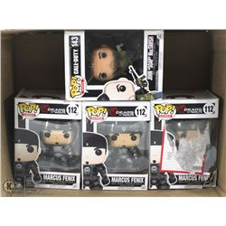 LOT OF 4 COLLECTIBLE FUNKO POP FIGURINES