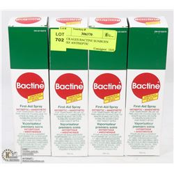 4 PACKAGES BACTINE SUNBURN RELIEF ANTISEPTIC