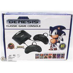 SEGA GENESIS CLASSIC GAME CONSOLE 81 BUILT IN