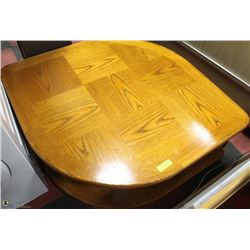 LEAF SHAPED OAK END TABLE