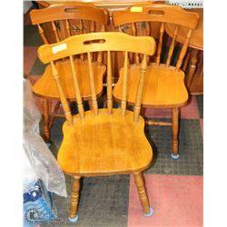 GROUP OF 3 ASSORTED MAPLE SIDECHAIRS