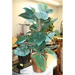 "ARTIFICIAL DIEFFENBACHIA HOUSE PLANT - 40"" TALL."