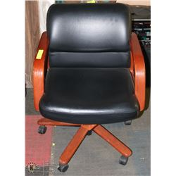 WOODFRAME DIRECTOR'S OFFICE CHAIR TILT BACK