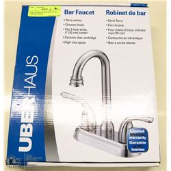 NEW UBERHAUS BAR FAUCET W/ CHROME FINISH -