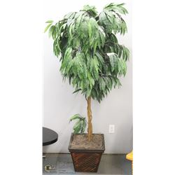6' ARTIFICIAL TREE IN GREEK DESIGN PLANTER