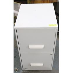 2 DRAWER FILING CABINET WITH KEYS. EXTRA LOCKS AND