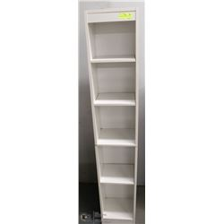 WHITE 5-SHELF STORAGE CABINET