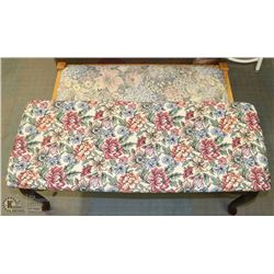 GROUP OF 2 NEEDLEPOINT BENCHES