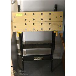 ULTRA STEEL FOLD-UP WORK BENCH W/VICE -