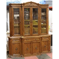 """2PC CHINA CABINET MEASURES 17""""X72""""X86"""" HIGH"""