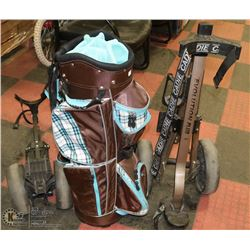 GOLF BAG SOLD WITH 2 CADDIES