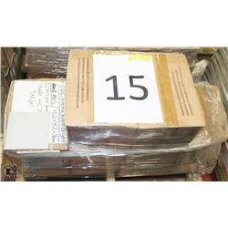 "PALLET #15) LOT OF CERAMIC TILE ARCTIC WHITE 6""X6"""