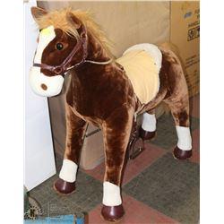 CHILDRENS PLUSH HORSE