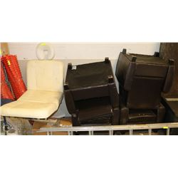 SALON CHAIR SOLD WITH 4 BRWON LEATHERETTE ARM