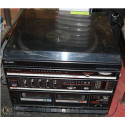VINTAGE SHARP SG-45 INTEGRATED MUSIC SYSTEM.