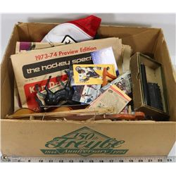 ESTATE BOX OF ASSORTED COLLECTIBLES