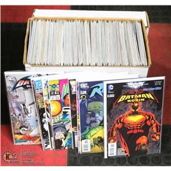 BOX OF OVER 130 COMICS BAGGED & BOARDED.