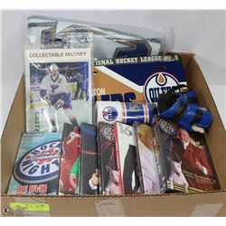 BOX OF OILER'S COLLECTIBLES INCL. OILER'S