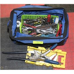 BLUE TOOL BAG WITH TOOLS