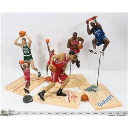 LOT OF 6 PREMIUM NBA ACTION FIGURES (VARIOUS BRAND