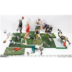LOT OF 9 PREMIUM NFL MCFARLANE ACTION FIGURES