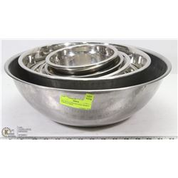 SET OF 8 STAINLESS STEEL BOWLS - VARIOUS SIZES