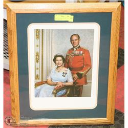 QUEEN ELIZABETH & PRINCE PHILIP PHOTO PRINT BY