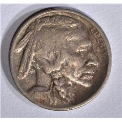 1913-S TYPE-2 BUFFALO NICKEL, F/VF