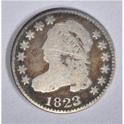 1823/2 CAPPED BUST DIME, VG