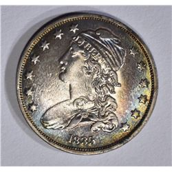 1835 CAPPED BUST QUARTER, AU