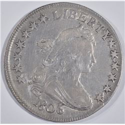 1806 DRAPED BUST HALF DOLLAR, XF