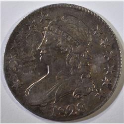 1828 BUST HALF DOLLAR, XF/AU