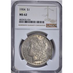 1904 MORGAN DOLLAR, NGC MS-62