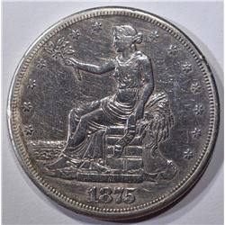 1875-S TRADE DOLLAR, XF
