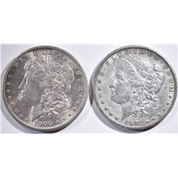 1900-O BU & 1901-O XF MORGAN DOLLARS