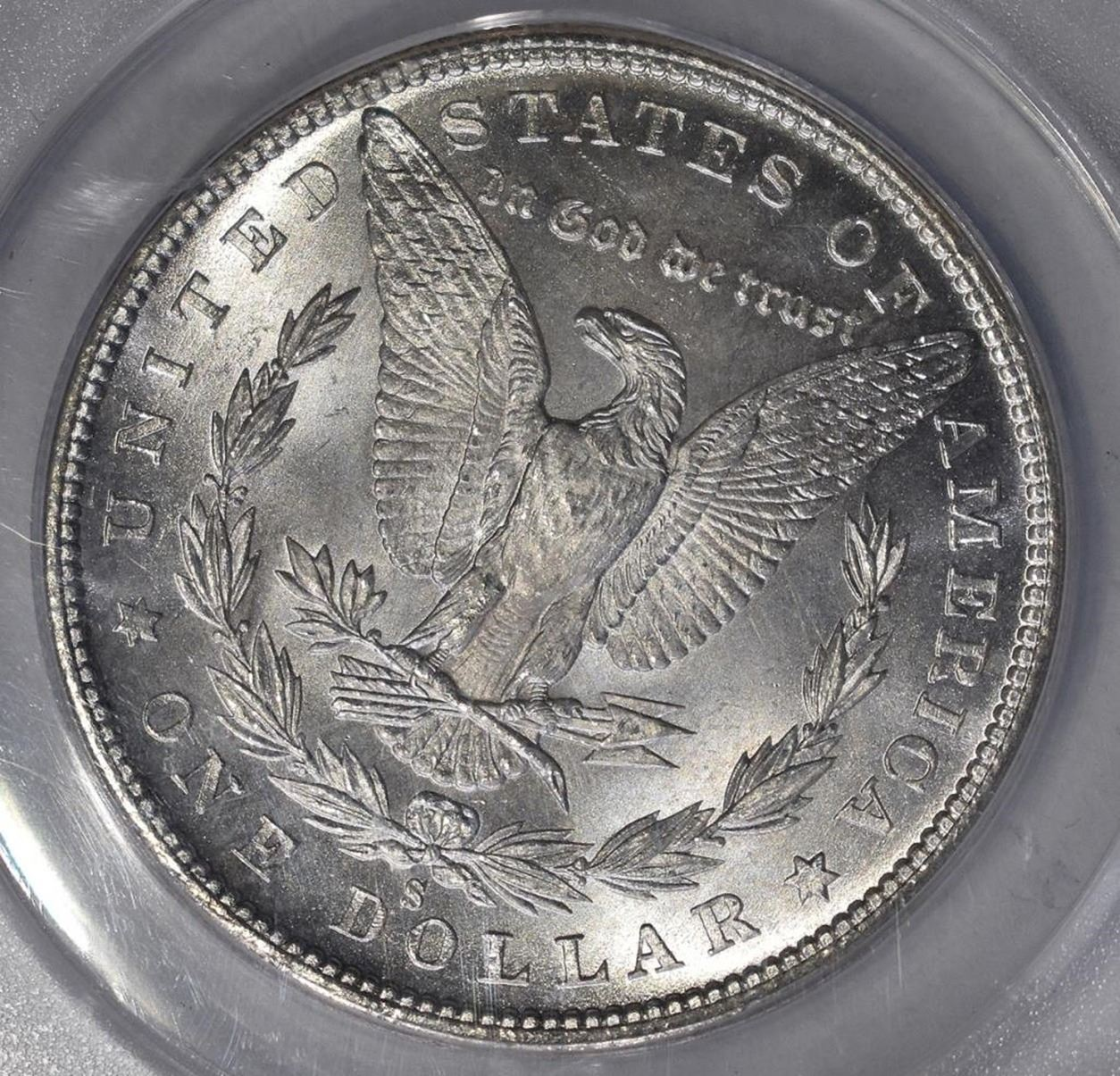 1-1880 S Morgan Silver Dollar   MS 62