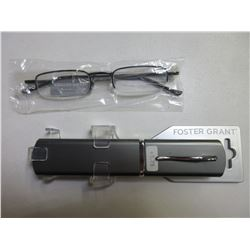 New Foster Grant Reading glasses with Hard case / +1.75
