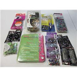Large bundle of New Beads / Wood beads / Glass beads/ Jewlelry glue