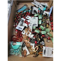 Flat full of New Assorted Beads for Jewelry or Crafting / huge value lot