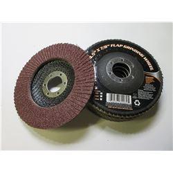 5 New 4 1/2 inch Flap Disk Grinding Disks / 80 grit