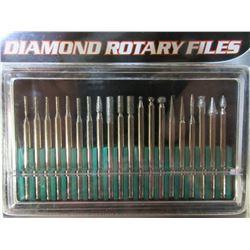 New 20 piece Diamond Rotary Files / 1/8 collet