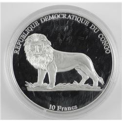 .9999 Fine Silver Proof 10 Franc Coin 1908 Berliet