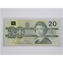 Bank of Canada 1991 Twenty Dollar Replacement Note