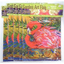 """Lot (5) 12 1/2 x 18"""" Garden Flags"""