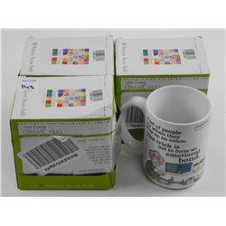 Lot (3) Ceramic Mug - 15oz