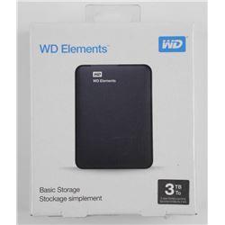 WD Elements, 3 TB Storage USB
