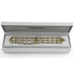 925 Silver/18kt Gold Plated fancy Bracelet, Set wi